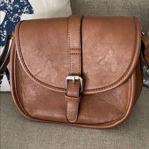 Saddle brown cross-body bag